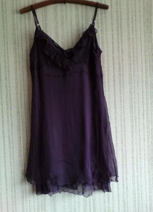 Платье на тонких бретелях motivi 100 % шелк подклад вискоза