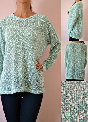Мятный весенний свитер