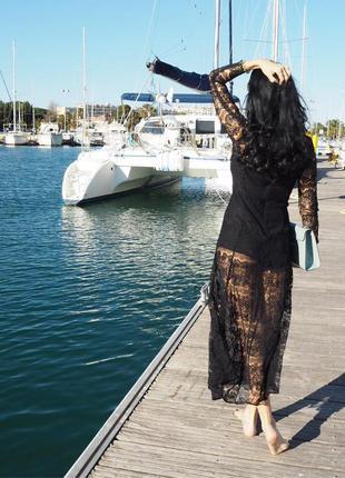Кружевное миди платье mango suit  размер с