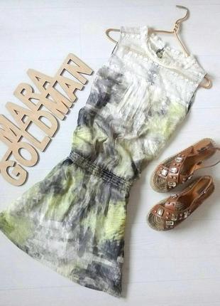 Шифоновое платье с кружевом garcia jeans