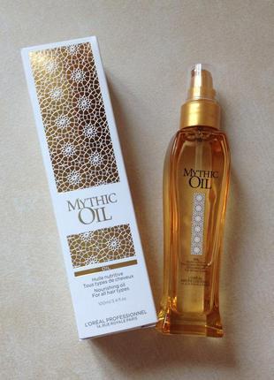 Питательное масло l'oreal professionnel mythic oil huile nutritive