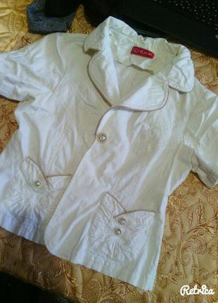 Стильный белый пиджак!!