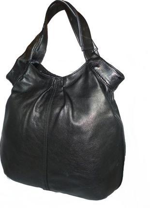 Стильная большая сумка натуральная кожа аutograph.