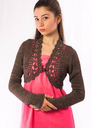 Болеро женское коричневое orsay вязаное (xs)