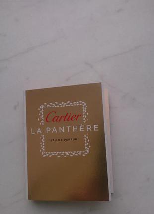 Пробник парфюмированной воды cartier la panthere