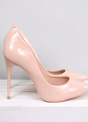 Туфли - лодочки на шпильке пудра
