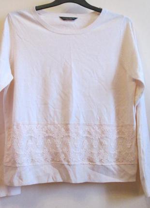 Красивый актуальный пудрово-розовый свитерок реглан dorothy perkins размер 18
