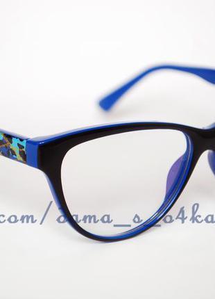 Классные имиджевые новые очки/оправа с красивыми дужками, линзы-стекло.