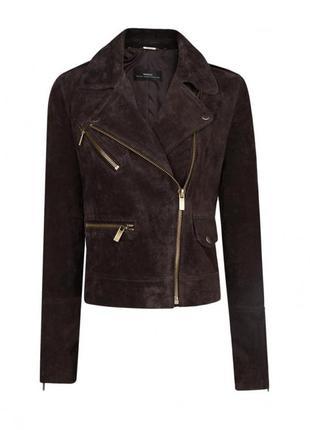 Стильная кожаная куртка - косуха от mango
