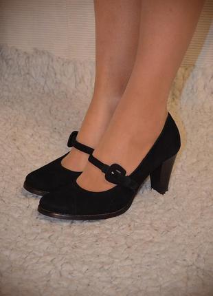 Туфли с перепонкой, peperosa, натур.замша, кожа, vip стиль!на все лоты снижена цена