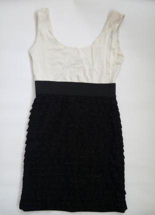Jane norman летнее  платье сукня плаття с мелкими  рюшами воланами гофра