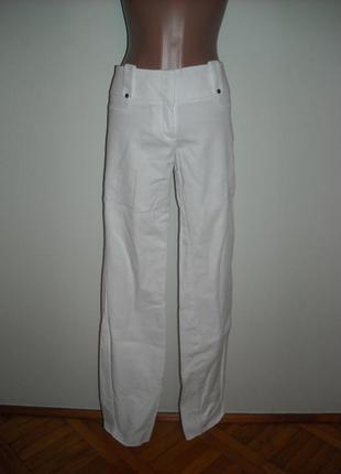 Штаны next белые из 100% льна на хлопковой подкладке.