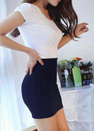 Стильная базовая юбка, темно-синяя divided by h&m