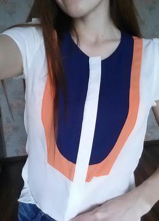 Шифоновая блуза белая ,высокое качество.