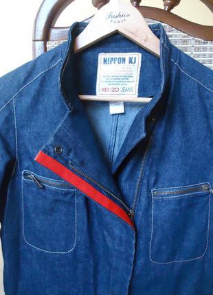 Джинсовый пиджак косворотка (kenzo)