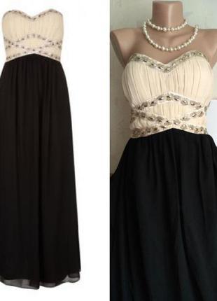 Вечернее выпускное платье в пол бюстье, длинное платье макси new look, 44-48