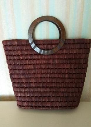 Сумка шопер плетеная соломенная cherokee