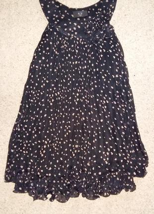 Шифоновое платье в сердечки