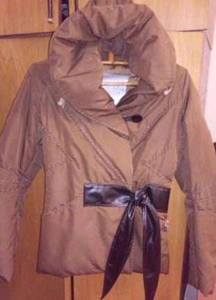 Курточка пуховик, италия, натуральный пух, осень-зима, р-р 42-44