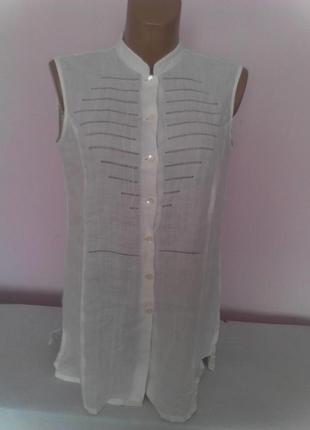Хлопковая белая блузочка