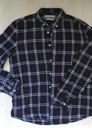 Рубашка в клетку синяя cedarwood state хлопок