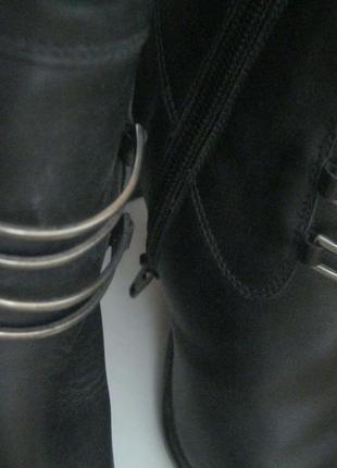Люкс.зимние кожаные на натуральном меху сапоги-ботинки-ботильоны.augusto,100%оригинал.