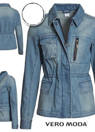 Крутая джинсовая куртка джинсовка vero moda