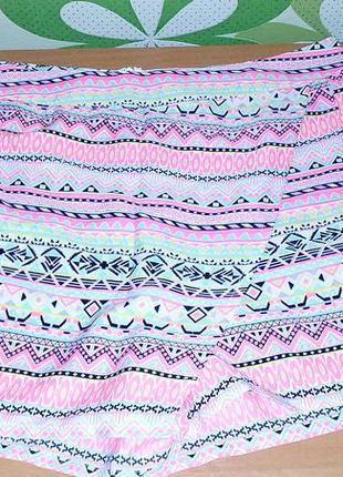 Шорты-юбка в цветной принт