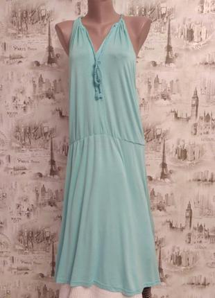 Модное платье сарафан  летнее, мятного цвета, размер 50-52,фирма kappahl