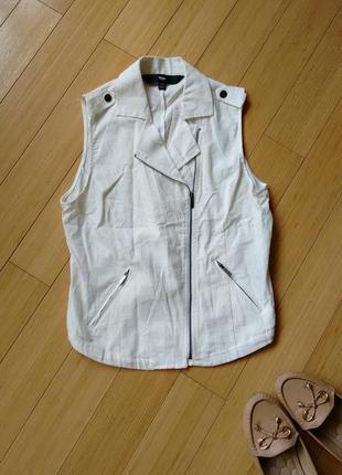 Натуральная блузка/жилетка. mossismo. из сша