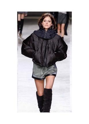 Короткий пуховик -куртка  шарик - одеяло /круглый  очень круто и стильно naf-naf s-m