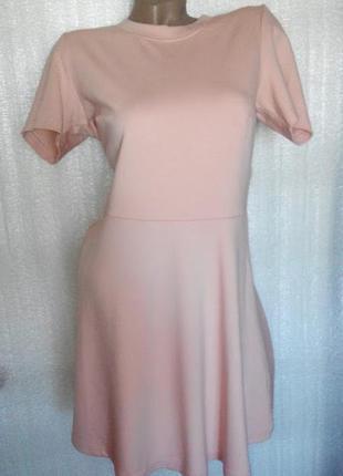 Базовое платье ,цвета пудры. m