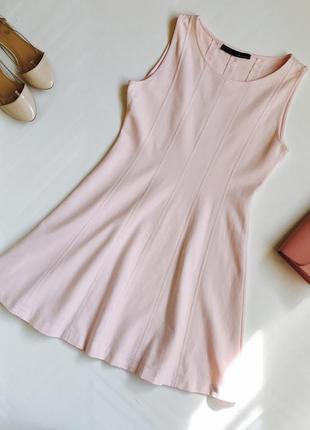 Розовое коттоное платье zara