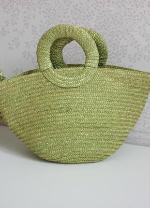 Летняя плетенная сумка