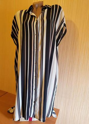 Полосатая блуза-туника 52-56р1