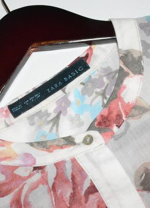 Рубашка в цветы, блуза zara4