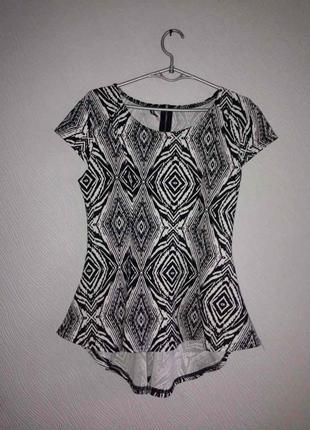 Кофта блуза с баской