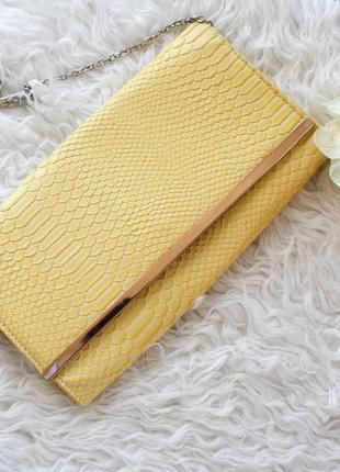 Стильная сумка-клатч под змеиную кожу, сумка с длинными ручками