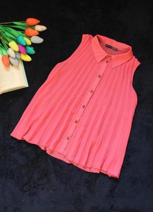 Розовая драпированная блуза