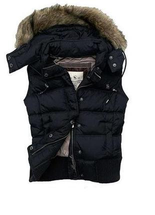 Теплый брендовый жилет abercrombie&fitch оригинал, женский с_м или подросток