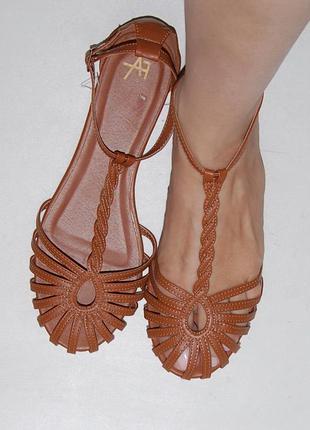 Босоножки сандали рыжие anna field 38 р-р 24.6 см