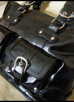 Vip роскошная большая кожаная сумка а4 -  100% натуральная лакированная кожа – мексика1