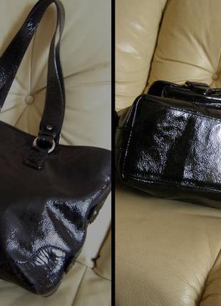 Vip роскошная большая кожаная сумка а4 -  100% натуральная лакированная кожа – мексика3