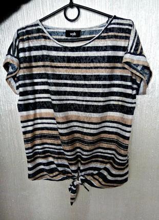 Футболка блузка маяка wallis бренд в полоску кофейные цвета