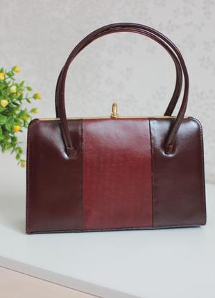 Кожаная винтажная сумка, натуральная кожа полностью, дорогой английский бренд portland