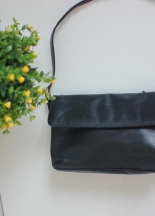Кожаная сумка, натуральная кожа лаечка
