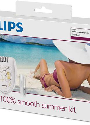 Philips epilator set total body - 100% smooth summer skin (demo)