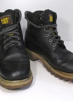 Ботинки кожаные cat, 38w, оригинальные