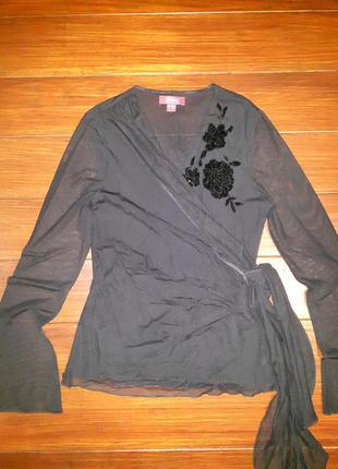 Блуза сеточка с запахом от monsoon! p.-38