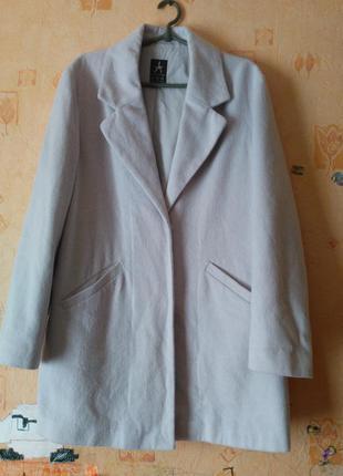 Нежно-лавандовое бойфренд пальто,оверсайз